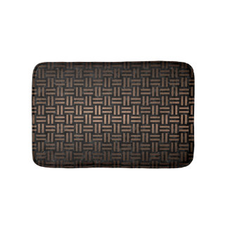 WOVEN1 BLACK MARBLE & BRONZE METAL BATH MAT