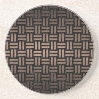 WOVEN1 BLACK MARBLE & BRONZE METAL COASTER