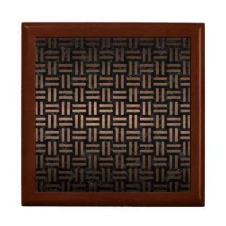 WOVEN1 BLACK MARBLE & BRONZE METAL GIFT BOX