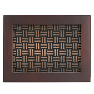 WOVEN1 BLACK MARBLE & BRONZE METAL KEEPSAKE BOX