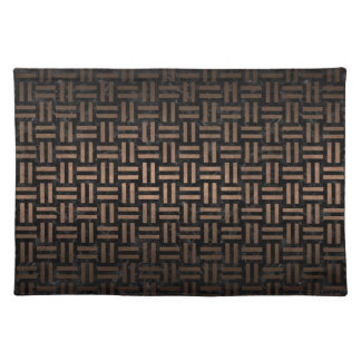 WOVEN1 BLACK MARBLE & BRONZE METAL PLACEMAT