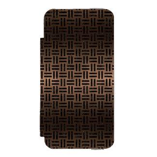 WOVEN1 BLACK MARBLE & BRONZE METAL (R) INCIPIO WATSON™ iPhone 5 WALLET CASE