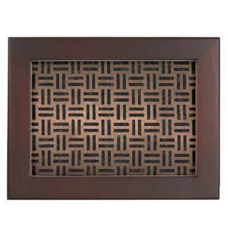 WOVEN1 BLACK MARBLE & BRONZE METAL (R) KEEPSAKE BOX