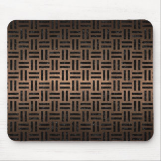 WOVEN1 BLACK MARBLE & BRONZE METAL (R) MOUSE PAD