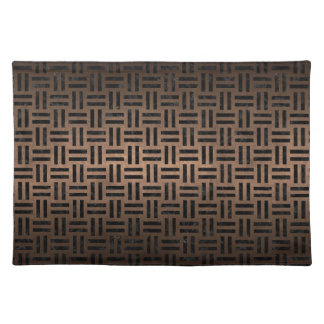 WOVEN1 BLACK MARBLE & BRONZE METAL (R) PLACEMAT