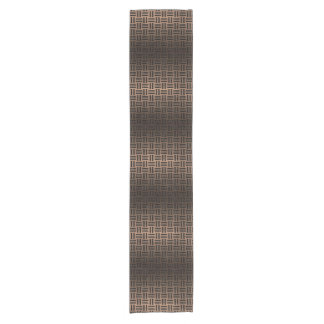 WOVEN1 BLACK MARBLE & BRONZE METAL (R) SHORT TABLE RUNNER
