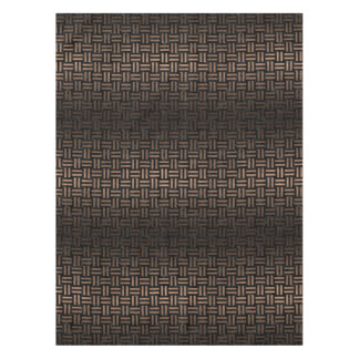 WOVEN1 BLACK MARBLE & BRONZE METAL TABLECLOTH