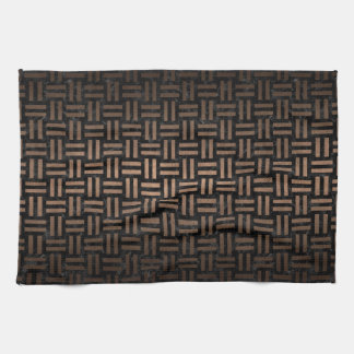 WOVEN1 BLACK MARBLE & BRONZE METAL TEA TOWEL