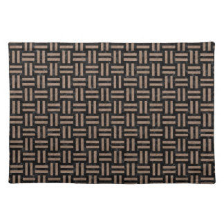 WOVEN1 BLACK MARBLE & BROWN COLORED PENCIL PLACEMAT