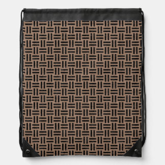 WOVEN1 BLACK MARBLE & BROWN COLORED PENCIL (R) DRAWSTRING BAG