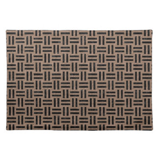 WOVEN1 BLACK MARBLE & BROWN COLORED PENCIL (R) PLACEMAT