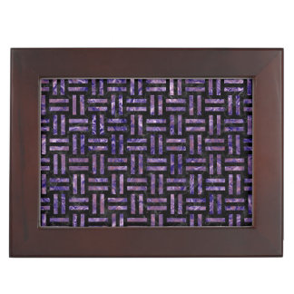 WOVEN1 BLACK MARBLE & PURPLE MARBLE MEMORY BOXES