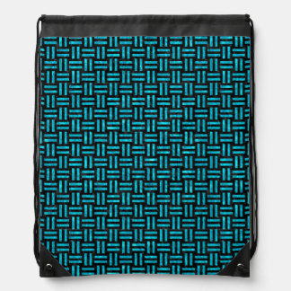 WOVEN1 BLACK MARBLE & TURQUOISE MARBLE DRAWSTRING BAG