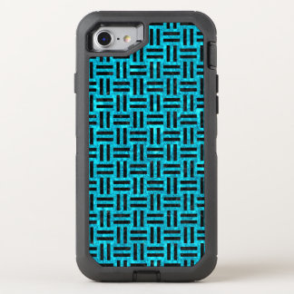 WOVEN1 BLACK MARBLE & TURQUOISE MARBLE (R) OtterBox DEFENDER iPhone 8/7 CASE