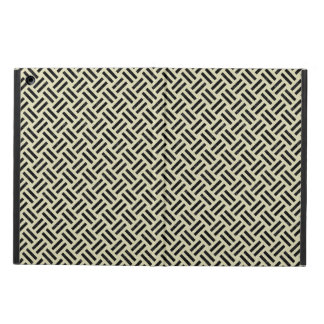 WOVEN2 BLACK MARBLE & BEIGE LINEN (R) CASE FOR iPad AIR