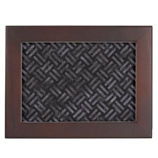 WOVEN2 BLACK MARBLE & BLACK WATERCOLOR KEEPSAKE BOX