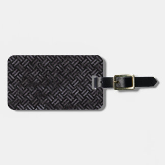 WOVEN2 BLACK MARBLE & BLACK WATERCOLOR LUGGAGE TAG
