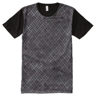 WOVEN2 BLACK MARBLE & BLACK WATERCOLOR (R) All-Over PRINT T-Shirt