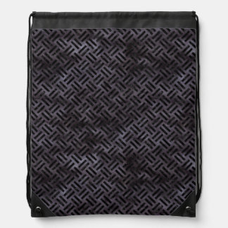WOVEN2 BLACK MARBLE & BLACK WATERCOLOR (R) DRAWSTRING BAG