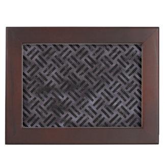 WOVEN2 BLACK MARBLE & BLACK WATERCOLOR (R) KEEPSAKE BOX