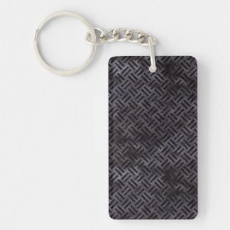 WOVEN2 BLACK MARBLE & BLACK WATERCOLOR (R) KEY RING