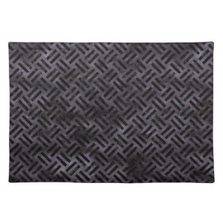 WOVEN2 BLACK MARBLE & BLACK WATERCOLOR (R) PLACEMAT
