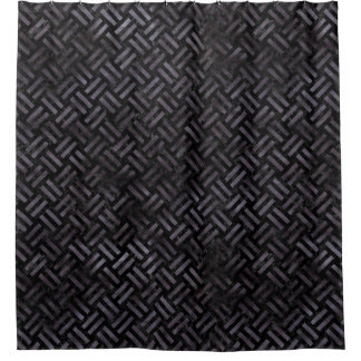 WOVEN2 BLACK MARBLE & BLACK WATERCOLOR SHOWER CURTAIN