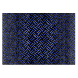 WOVEN2 BLACK MARBLE & BLUE BRUSHED METAL CUTTING BOARD