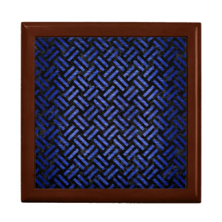 WOVEN2 BLACK MARBLE & BLUE BRUSHED METAL GIFT BOX