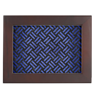 WOVEN2 BLACK MARBLE & BLUE BRUSHED METAL KEEPSAKE BOX
