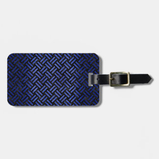 WOVEN2 BLACK MARBLE & BLUE BRUSHED METAL LUGGAGE TAG