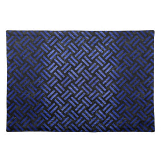 WOVEN2 BLACK MARBLE & BLUE BRUSHED METAL PLACEMAT