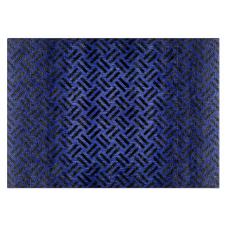WOVEN2 BLACK MARBLE & BLUE BRUSHED METAL (R) CUTTING BOARD