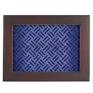 WOVEN2 BLACK MARBLE & BLUE BRUSHED METAL (R) KEEPSAKE BOX