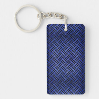 WOVEN2 BLACK MARBLE & BLUE BRUSHED METAL (R) KEY RING