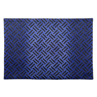 WOVEN2 BLACK MARBLE & BLUE BRUSHED METAL (R) PLACEMAT