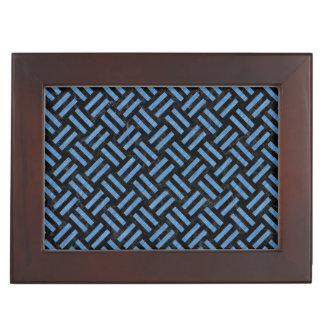 WOVEN2 BLACK MARBLE & BLUE COLORED PENCIL KEEPSAKE BOX