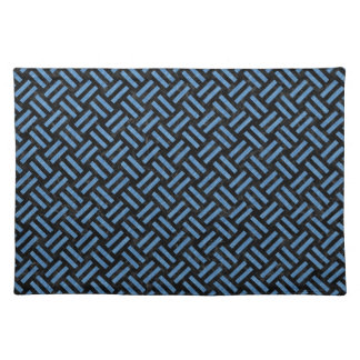 WOVEN2 BLACK MARBLE & BLUE COLORED PENCIL PLACEMAT