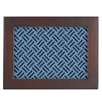 WOVEN2 BLACK MARBLE & BLUE COLORED PENCIL (R) KEEPSAKE BOX