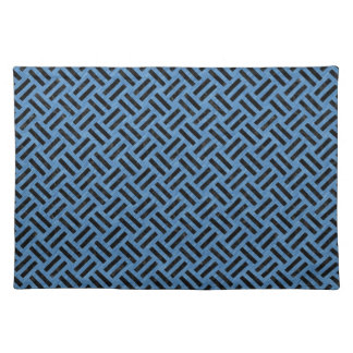 WOVEN2 BLACK MARBLE & BLUE COLORED PENCIL (R) PLACEMAT