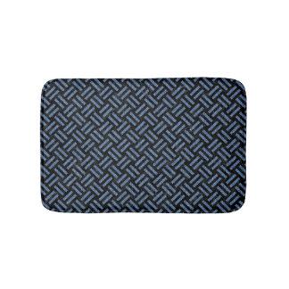 WOVEN2 BLACK MARBLE & BLUE DENIM BATH MAT