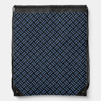 WOVEN2 BLACK MARBLE & BLUE DENIM DRAWSTRING BAG