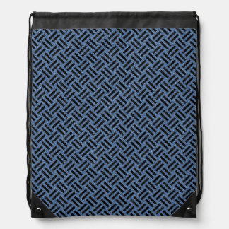 WOVEN2 BLACK MARBLE & BLUE DENIM (R) DRAWSTRING BAG