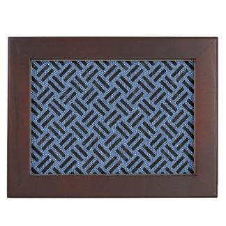 WOVEN2 BLACK MARBLE & BLUE DENIM (R) KEEPSAKE BOX