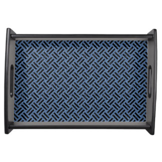 WOVEN2 BLACK MARBLE & BLUE DENIM (R) SERVING TRAY