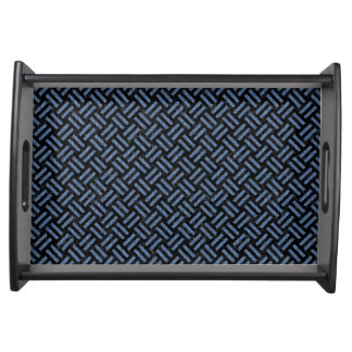 WOVEN2 BLACK MARBLE & BLUE DENIM SERVING TRAY