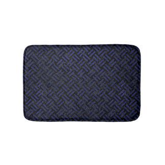 WOVEN2 BLACK MARBLE & BLUE LEATHER BATH MAT