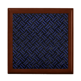 WOVEN2 BLACK MARBLE & BLUE LEATHER GIFT BOX