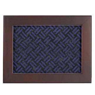 WOVEN2 BLACK MARBLE & BLUE LEATHER KEEPSAKE BOX
