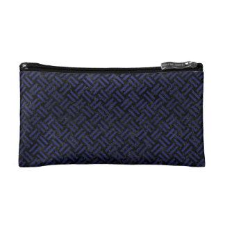 WOVEN2 BLACK MARBLE & BLUE LEATHER MAKEUP BAG